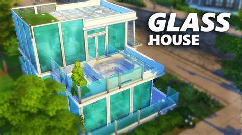 sims  build glass house youtube