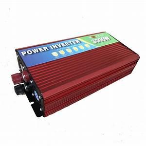 12v 3000w  3kw Modified Sine Wave Inverter 12v 220v Car Power Inverter With Battery Cable Full