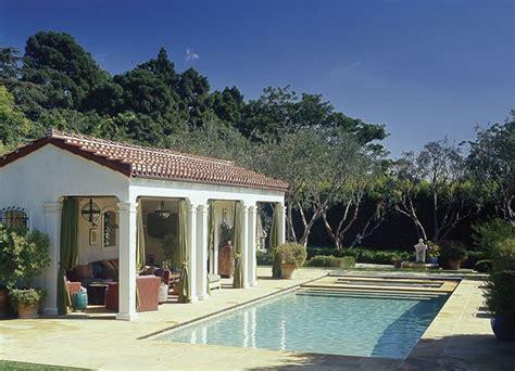 spanish colonial style pool pool house  santa monica california ferguson shamamian