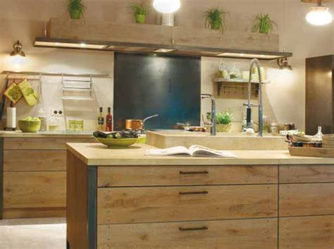 cuisine en bois h黎re déco cuisine bois naturel