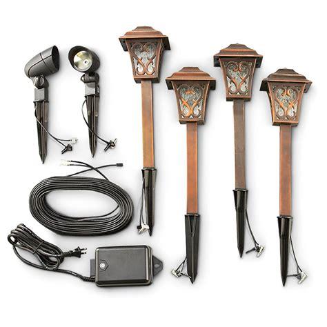 landscape led lighting kits malibu 174 6 pc led landscape light kit 176927 solar