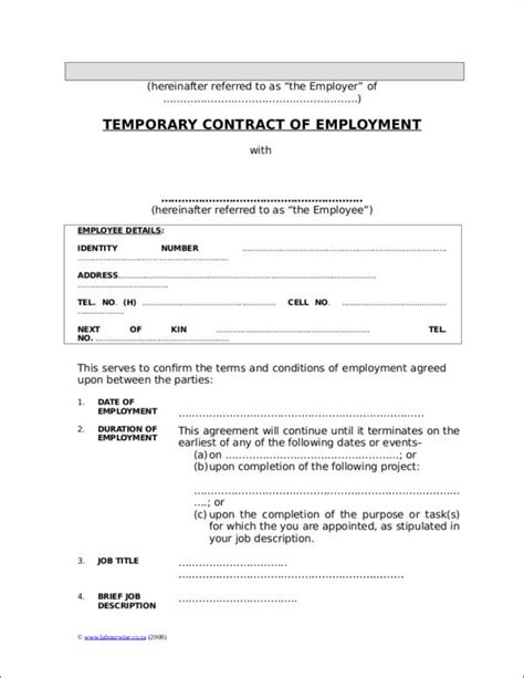 FREE 20+ Types of Employment Contracts in PDF | MS Word
