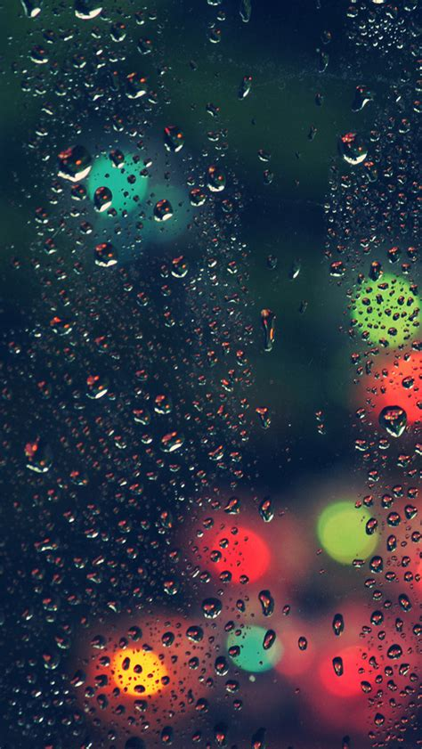 window rain bokeh christmas lights iphone  wallpaper