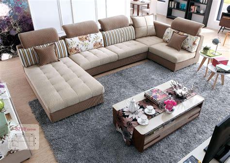 canapé rustique lizz tissu modulaire salon et canapé costumes u en forme