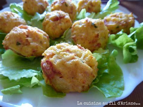 la cuisine d ariane boulettes de pommes de terre jambon la cuisine au fil d