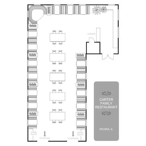 living space furniture restaurant floor plan