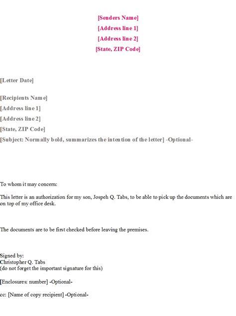 authorization letter templates templatehub