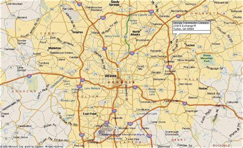 atlanta map world of map