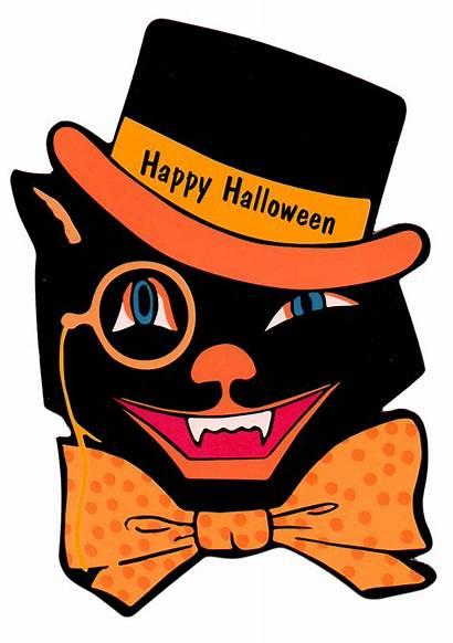 Halloween Printable Cat Hat Clip Clipart Retro