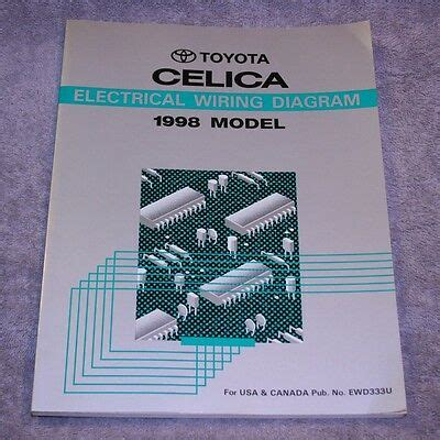 electric and cars manual 1998 toyota celica on board diagnostic system 1998 toyota celica electrical wiring diagram service repair manual ewd333u ebay