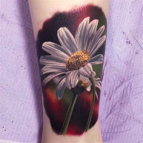 realistic flower tattoo