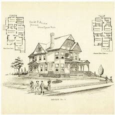 Victorian House Plans  Vintage Home Plans  Pinterest