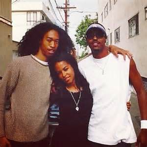 Aaliyah with Her Brother