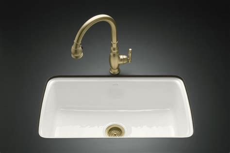 Home Depot Kitchen Sinks White by Kohler Cape Dory Undercounter Kitchen Sink In White The