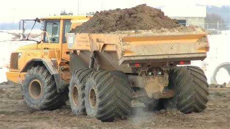 volvo ad   meter  ground pressure tires youtube