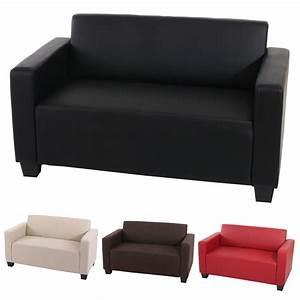 2er Sofa Rot : 2er sofa couch loungesofa lyon textil kunstleder creme rot schwarz braun ebay ~ Markanthonyermac.com Haus und Dekorationen