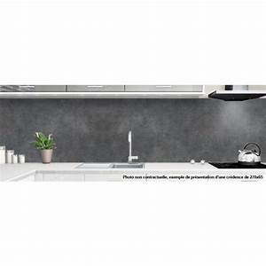 Crédence Béton Ciré : credence de cuisine sur mesure textures et matieres ~ Premium-room.com Idées de Décoration
