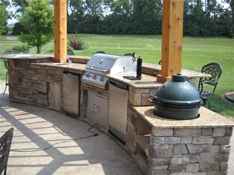 outdoor kitchen with green egg enjoy your process with outdoor kitchen ideas green