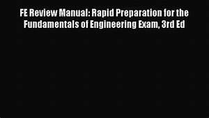 Pdf Download  Fe Review Manual  Rapid Preparation For The