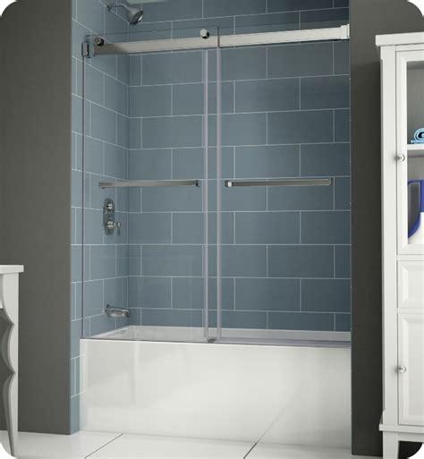 fleurco npt gemini  frameless bypass sliding tub doors