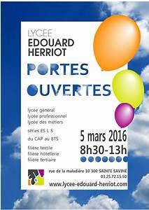 Portes ouvertes le 5 mars 2016 Lycée Edouard Herriot
