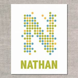 dots personalized uh oh pasghettio With personalized letter art