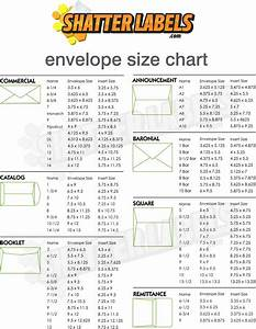 shatter labels envelope size chart With envelope label size