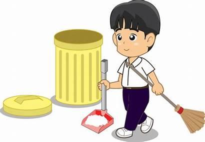 Sampah Kartun Membuang Murid Kelas Kebersihan Dan