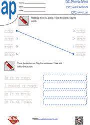 cvc worksheets  kindergarten consonant vowel