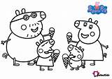 Peppa Pig Coloring Pages Ice Cream Bubakids Cartoon Printable sketch template