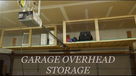 how to build above garage door storage