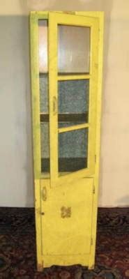 vintage tall narrow hoosier era pantry kitchen cabinet