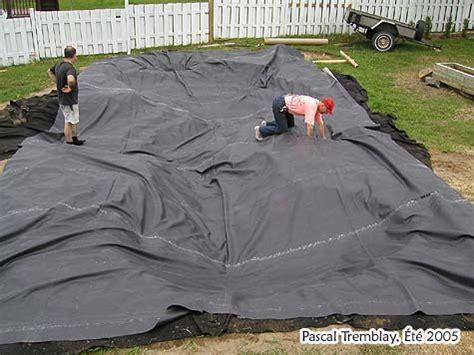 liner pour bassin exterieur installer une toile de bassin de jardin epdm construire un 201 tang