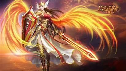 Angels League Angel Warrior Desktop Games Fantasy