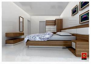 Simple bedroom interior - GharExpert