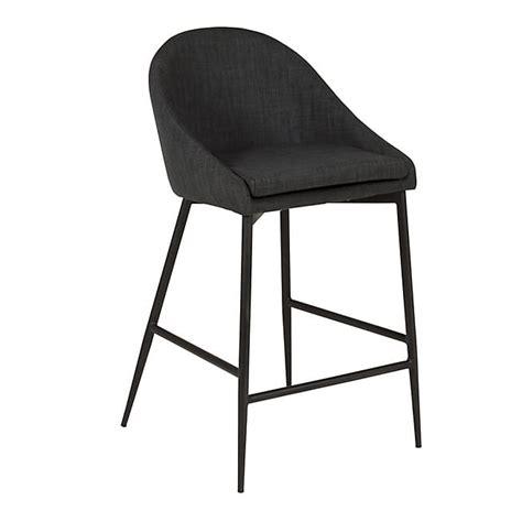 chaise de plan de travail chaise hauteur plan de travail pied noir tissu gris