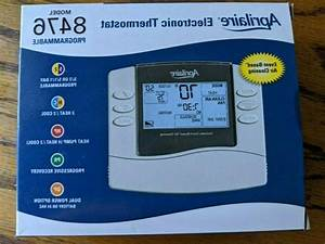 Aprilaire 8476 Thermostat  Programmable Dual Powered