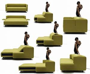 Wow sofa becomes a practical bed with just the push of a for Wow sofa bed