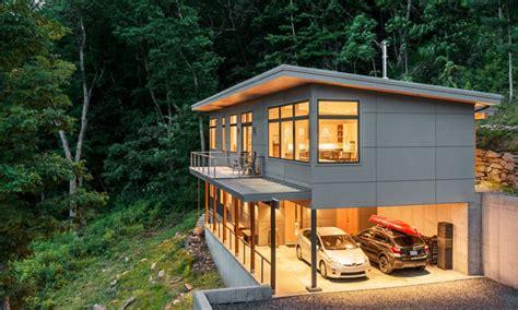 hillside cabin plans steep hillside house plans on waterfront walkout basement for home luxamcc