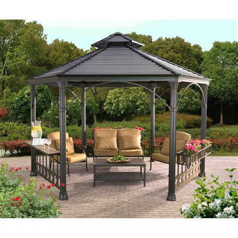 hexagon gazebo garnett hexagonal gazebo
