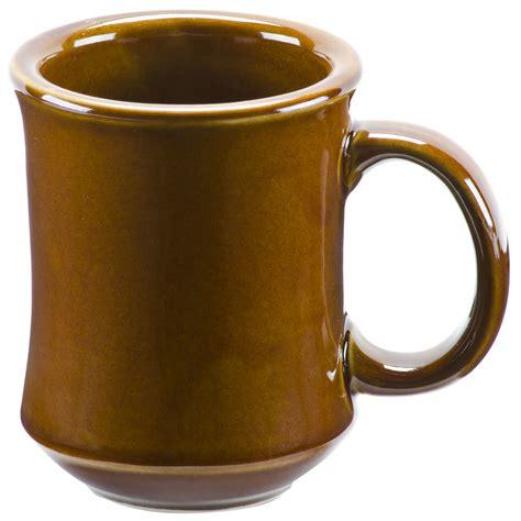 brown bell shaped  oz china coffee mug pack
