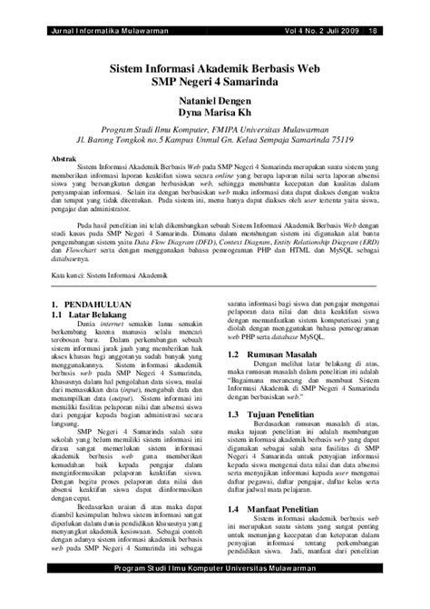 (PDF) Sistem Informasi Akademik Berbasis Web Untuk SMP