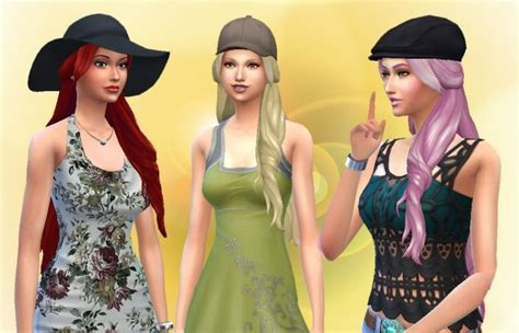 Flame Hair (version 2) at My Stuff » Sims 4 Updates