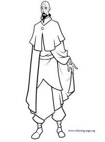 legend  korra tenzin coloring page