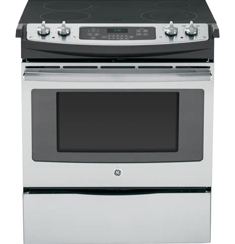 ge electric cooktop ge 174 30 quot slide in front electric range js630sfss