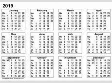 Cute 2019 Calendar – printable calendar templates