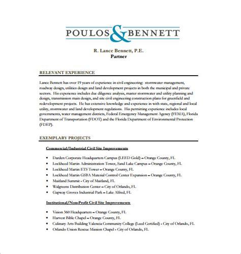 civil engineer resume template 10 free word excel pdf