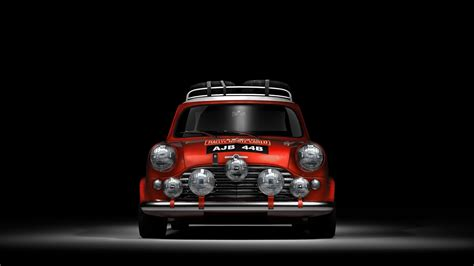 Car, Red Cars, Mini Cooper, Sports Car, Black Background