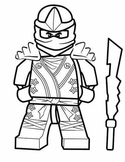 Ninja Ninjago Coloring Pages Kai Lego Lloyd