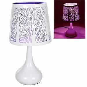 Lampe tactile touch avec motifs papillons ou arbres